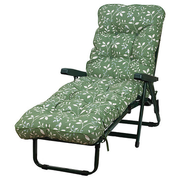 Bracken Outdoors Deluxe Country Green Garden Sunlounger