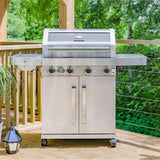 Grillstream Gourmet 4 Burner Gas Barbecue - Stainless Steel