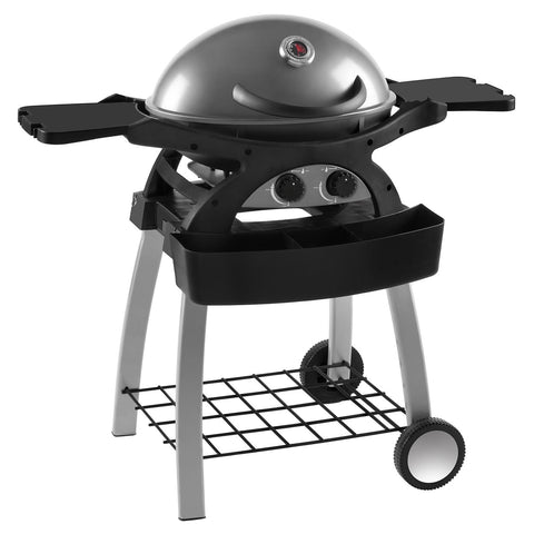 Ziggy 2 Burner Portable Grillstream Gas Barbecue with Fixed Cart - Gunmetal Grey
