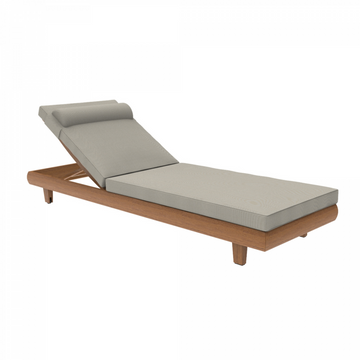 Alexander Rose Outdoor Sorrento Adjustable Sunbed with Cushion
