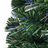 Fibre Optic Green Christmas Tree with Multicoloured Fibre Optic Lights - 2ft, 3ft, 4ft, 5ft, 6ft