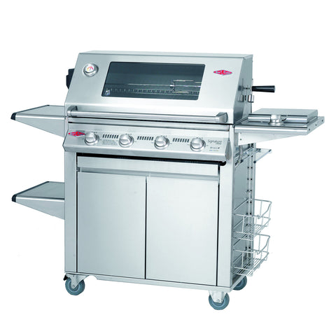 BeefEater Signature S3000S Plus 4 Burner Full Stainless Steel Gas Barbecue with Cabinet Trolley and Side Burner
