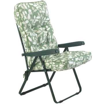 Bracken Outdoors Deluxe Cotswold Leaf Recliner Garden Chair