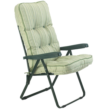 Bracken Outdoors Deluxe Cotswold Stripe Recliner Garden Chair