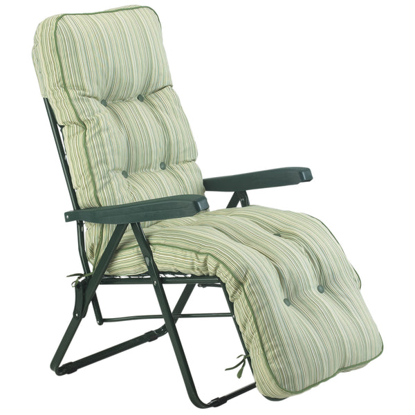 Bracken Outdoors Deluxe Cotswold Stripe Relaxer Garden Chair
