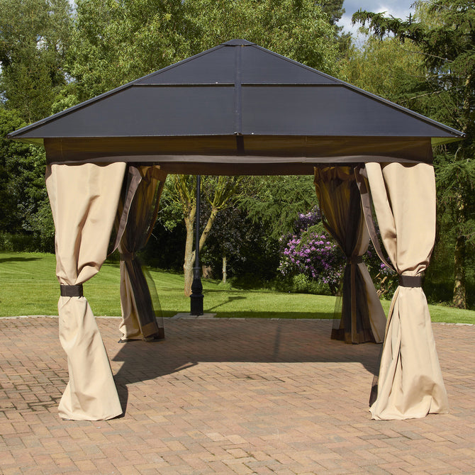 Bracken Outdoors Square Polycarbonate Garden Gazebo 2.5m x 2.5m