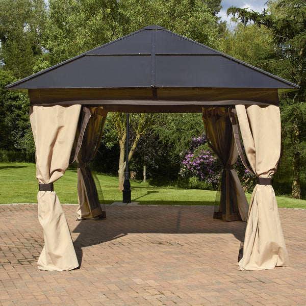 Bracken Outdoors Square Polycarbonate Garden Gazebo 3 x 3m
