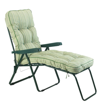 Bracken Outdoors Deluxe Cotswold Stripe Lounger Garden Chair