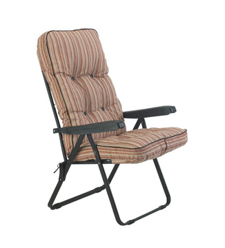 Bracken Outdoors Deluxe Marbella Stripe Recliner Garden Chair