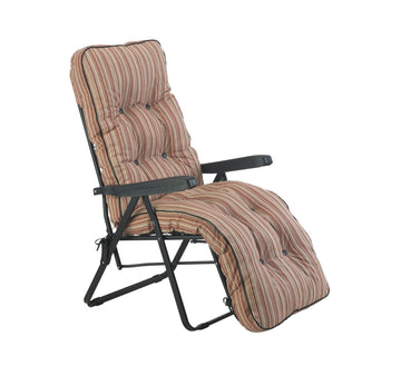 Bracken Outdoors Deluxe Marbella Stripe Relaxer Garden Chair
