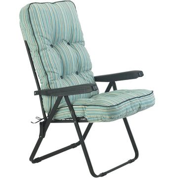 Bracken Outdoors Deluxe Tahiti Stripe Recliner Garden Chair