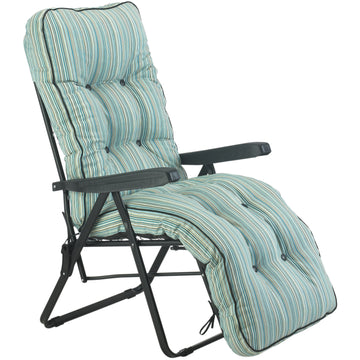 Bracken Outdoors Deluxe Tahiti Stripe Relaxer Garden Chair