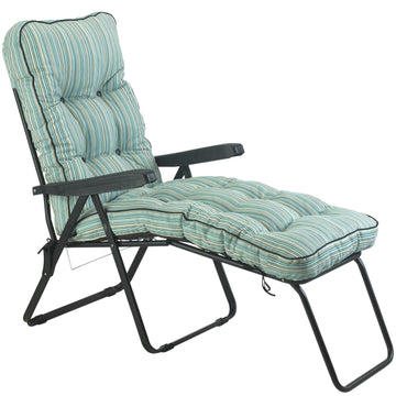 Bracken Outdoors Deluxe Tahiti Stripe Lounger Garden Chair
