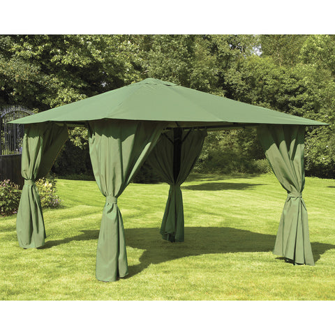 Bracken Outdoors Venice Heavy Duty Rectangular Garden Gazebo 3 x 4m Sage