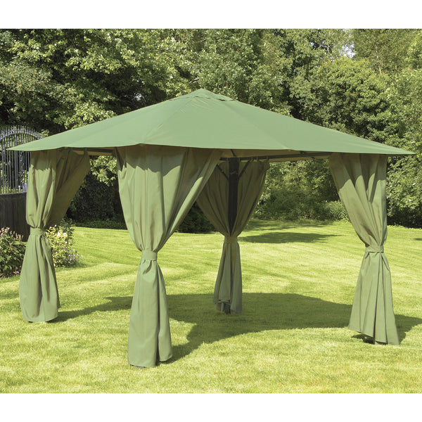 Bracken Outdoors Venice Heavy Duty Square Garden Gazebo 3 x 3m Sage