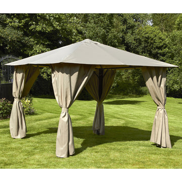Bracken Outdoors Venice Heavy Duty Square Garden Gazebo 2.5m x 2.5m Mocha
