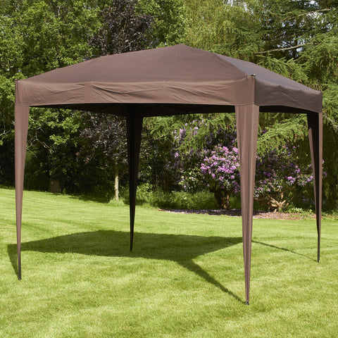 Bracken Outdoors Pop Up Garden Gazebo Mocha 3 x 3m