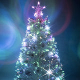 White Fibre Optic Christmas Tree with Multicoloured LED Lights - 2ft, 3ft, 4ft, 5ft, 6ft
