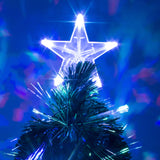 Green Fibre Optic Christmas Tree with Baubles and Multicoloured LED Lights - 2ft, 3ft, 4ft, 5ft, 6ft