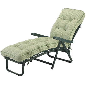 Bracken Outdoors Deluxe Cotswold Stripe Garden Sunlounger
