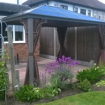 Bracken Outdoors Kensington Terrace Pavilion Polycarb Roof Gazebo 3m x 3.65m