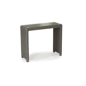 Kettler Palma Rattan Casual Dining Glass Top Side Table