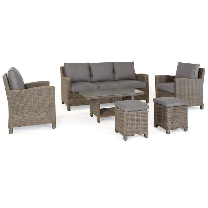 Kettler Palma Rattan Outdoor Casual Dining Lounge Sofa Set with Coffee Table