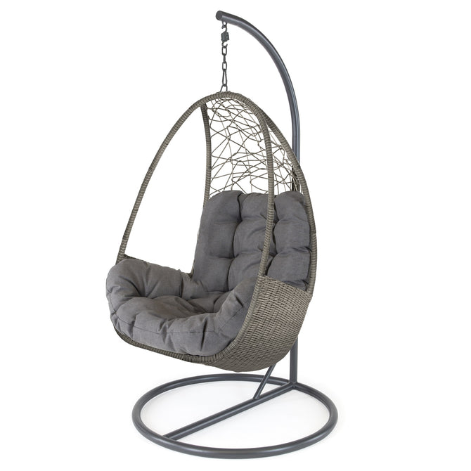 Kettler Palma Rattan Single Hanging Cocoon Chair with Cushion
