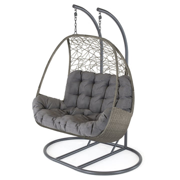 Kettler Palma Rattan Double Hanging Cocoon Chair with Cushion
