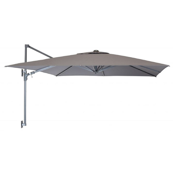 Kettler 2.5m Square Taupe Wall Mounted Free Arm Parasol