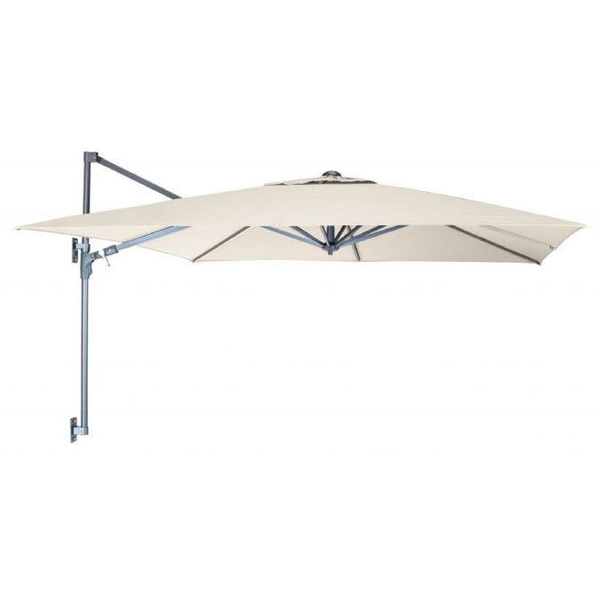 Kettler 2.5m Square Natural Wall Mounted Free Arm Parasol