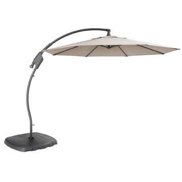 Kettler 3m Free Arm Cantilever Parasol with Base Stone