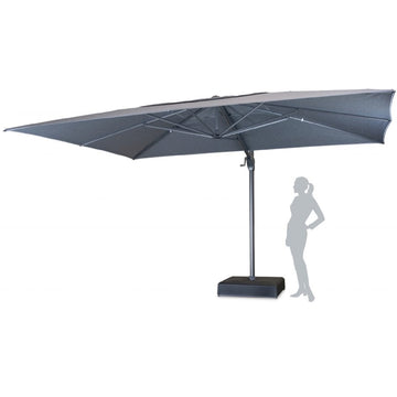 Kettler 4m x 3m Taupe Free Arm Cantilever Parasol with Metal and Resin Base