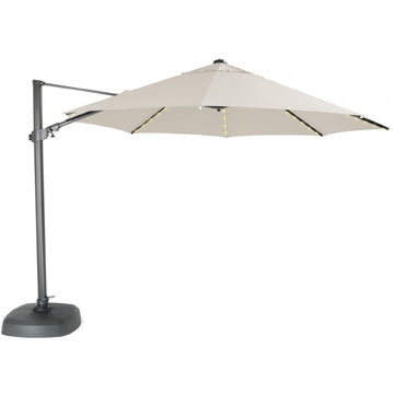 Kettler 3.5m Natural Free Arm Cantilever Parasol with LED Lights and Bluetooth Speaker
