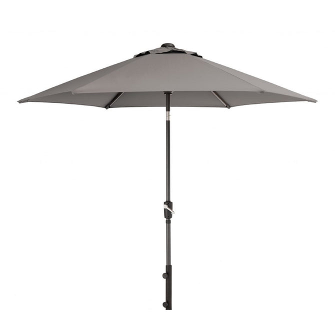 Kettler 2.5m Wind Up with Tilt Garden Parasol Grey Taupe