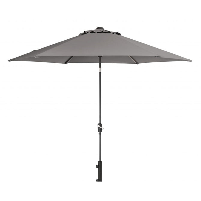 Kettler 3m Wind Up with Tilt Garden Parasol Grey Taupe