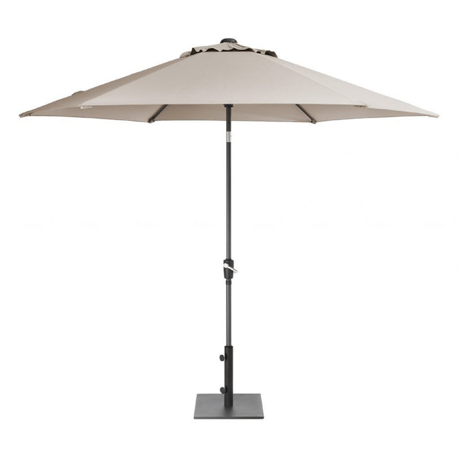 Kettler 3m Wind Up with Tilt Garden Parasol Stone