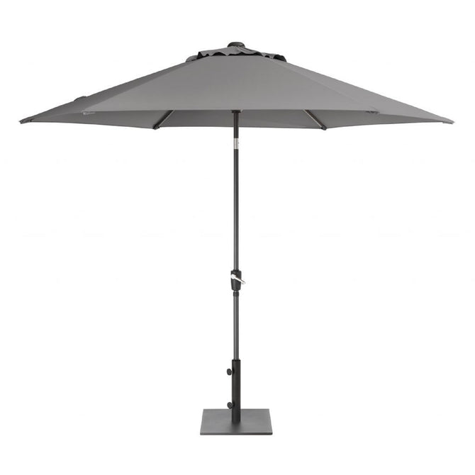 Kettler 3m Wind Up with Tilt Garden Parasol Slate Grey