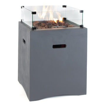 Kalos Universal Outdoor Gas Fire Pit 52cm Square