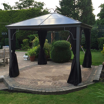 Bracken Outdoors Kensington Terrace Pavilion Polycarb Roof Gazebo 3m x 3m