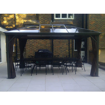Bracken Outdoors Kensington Terrace Pavilion Polycarb Roof Gazebo 3m x 4.3m