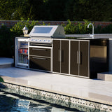 Profresco Signature S3000s 5 Burner Barbecue Quatro Outdoor Kitchen - Black