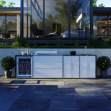Profresco Proline Roaster 6 Burner Barbecue Quatro Outdoor Kitchen - White