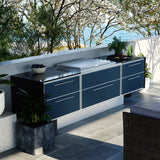 Profresco Proline Flat Lid 6 Burner Barbecue Aero Outdoor Kitchen- Anthracite