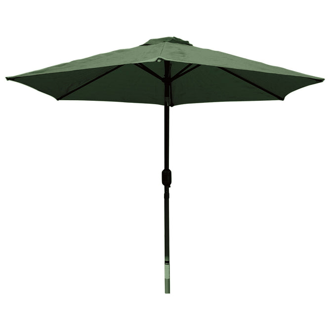 LG Outdoor Horizon 2.5m 38mm Aluminium Graphite Pole Round Garden Parasol - Forest Green