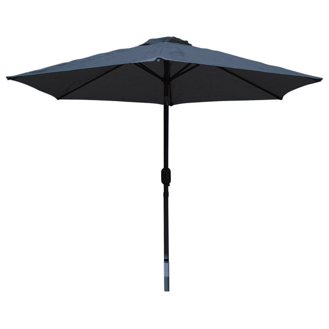 LG Outdoor Horizon 2.5m 38mm Aluminium Graphite Pole Round Garden Parasol - Navy