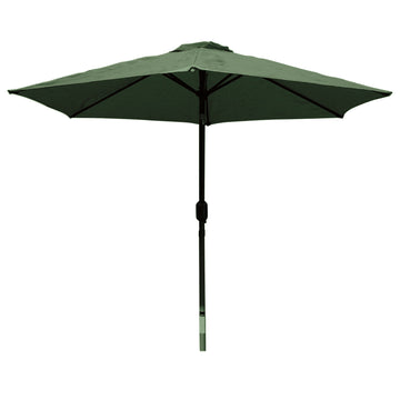 LG Outdoor Horizon 3m 38mm Aluminium Graphite Pole Round Garden Parasol - Forest Green
