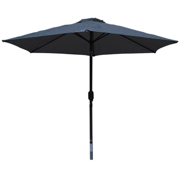LG Outdoor Horizon 3m 38mm Aluminium Graphite Pole Round Garden Parasol - Navy