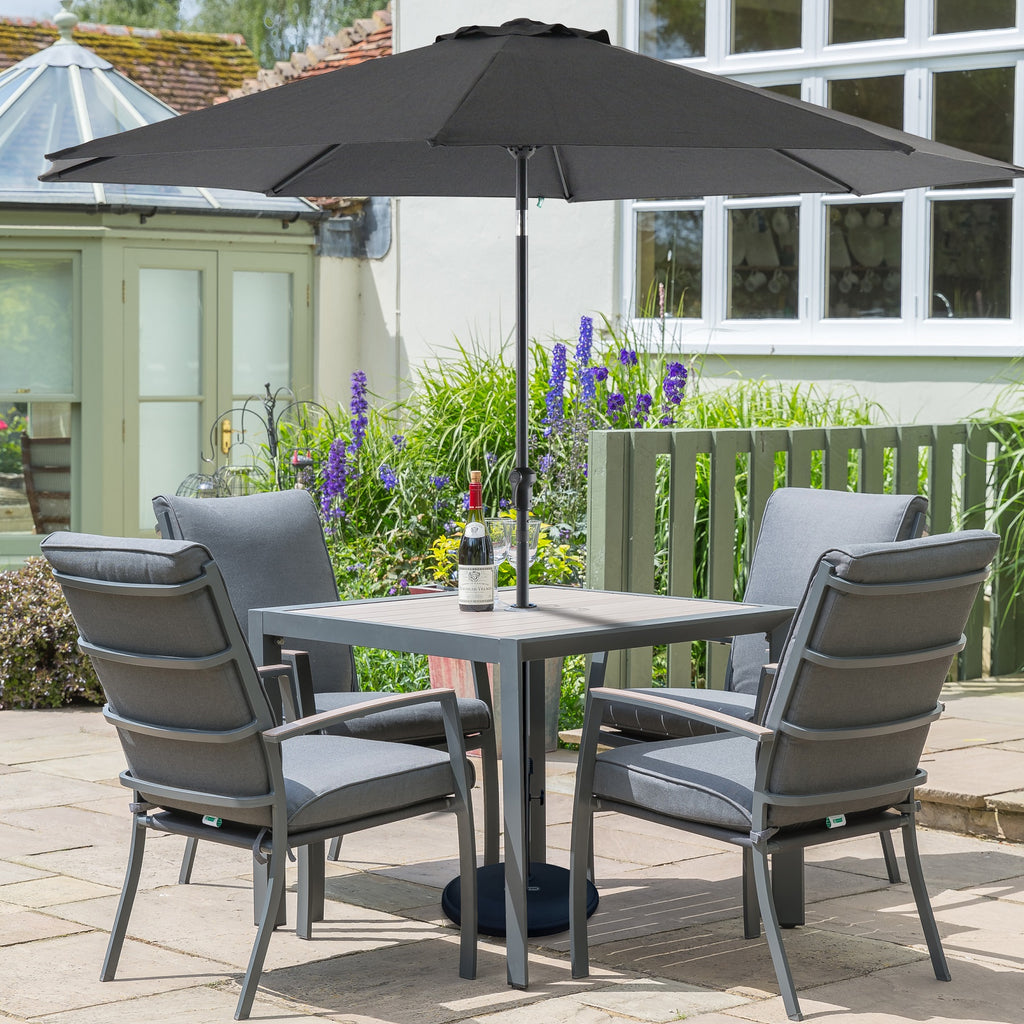 LG Outdoor Milano 4 Seat Square Garden Furniture Set with ...