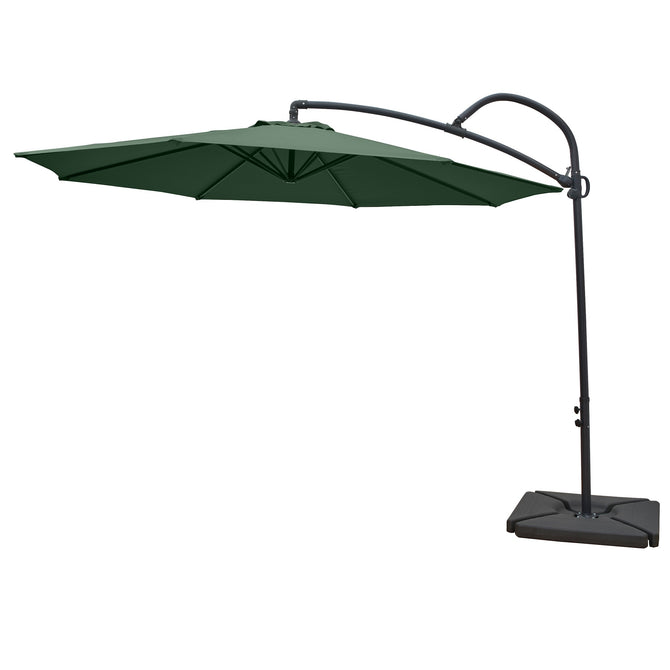LG Outdoor Palm 3m Round Cantilever Garden Parasol - Forest Green